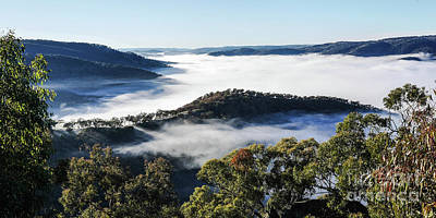 Photograph - Merlins Lookout Fog by Lexa Harpell