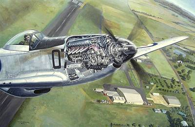 Painting - Merlin Magic Over Scone by Colin Parker