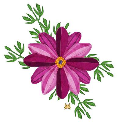 Painting - Merlot Cosmos Botanical by Anne Norskog