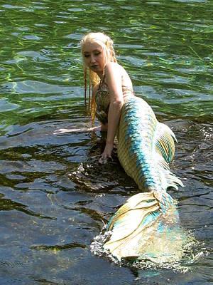 Photograph - Mermaid 002 by Chris Mercer