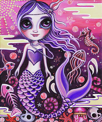 Mermaid At Dusk Original by Jaz Higgins