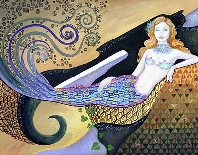 Mermaid Art Print by B K Lusk