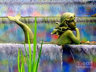 Digital Art - Mermaid Beauty by Ed Weidman
