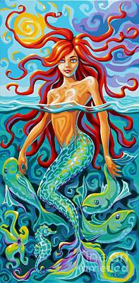 Painting - Mermaid by Christine Karron