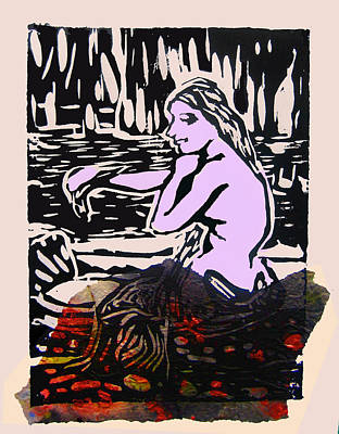 Digital Art - Mermaid Combing Her Hair  No V by Adam Kissel