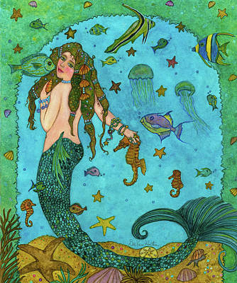 Painting - Mermaid by Dee Van Houten
