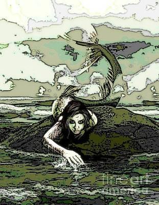 Digital Art - Mermaid Digital Art by Valarie Pacheco