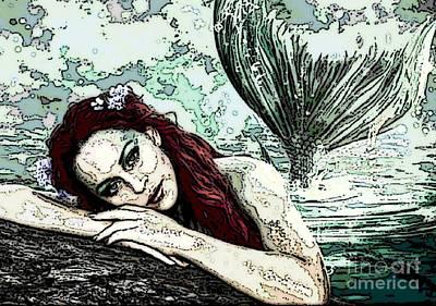 Digital Art - Mermaid Dreaming by Valarie Pacheco