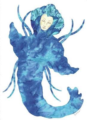 Mystical Women Mixed Media - Mermaid Dreams  by K S Rankin