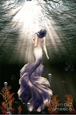 Sea Weed Mixed Media - Mermaid From The Deep  by Johan Botha