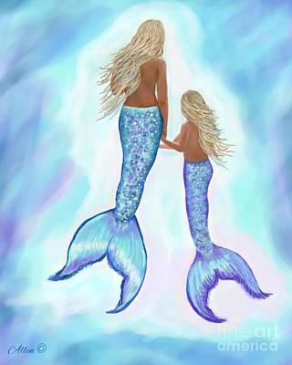 Painting - Mermaid Gentleness by Leslie Allen