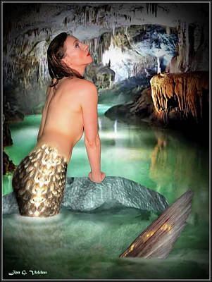 Photograph - Mermaid In A Cave by Jon Volden