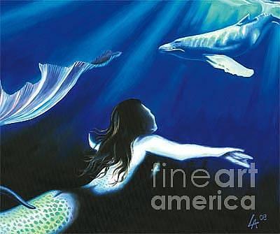 Painting - Mermaid In Rapture by Linda Laforge
