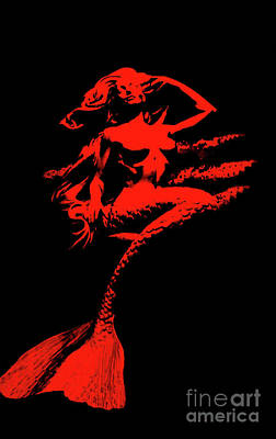 Photograph - Mermaid In Red by Steven Parker