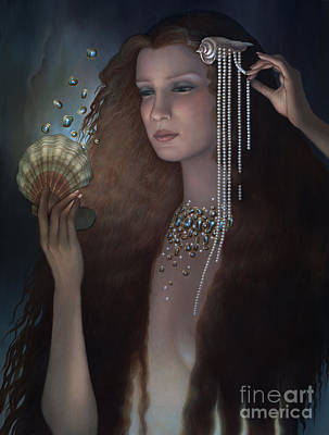 Vain Painting - Mermaid by Jane Whiting Chrzanoska
