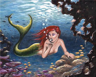 Painting - Mermaid by Joe Burgess