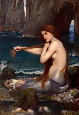 Alluring Painting - Mermaid by Mountain Dreams