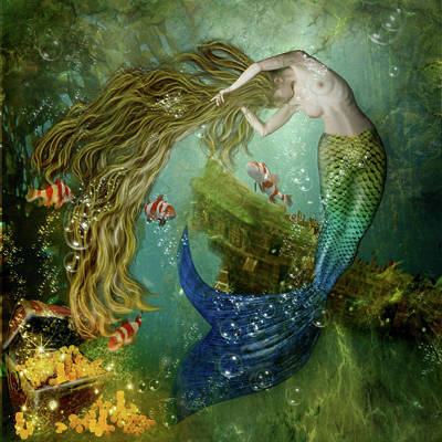 Digital Art - Mermaid by Karin Claesson