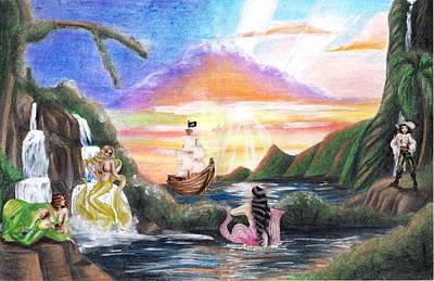 Mermaid Lagoon Print by Scarlett Royal