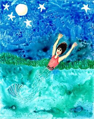 Mermaid Metamorphosis Print by Sushila Burgess