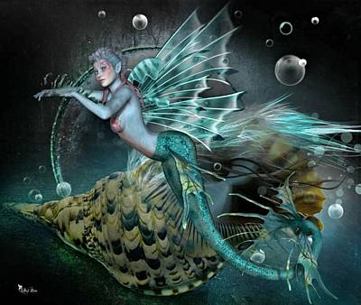 Digital Art - Mermaid Of The Deep Sea by Ali Oppy