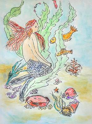 Painting - Mermaid Of The Sea by Anne Sands