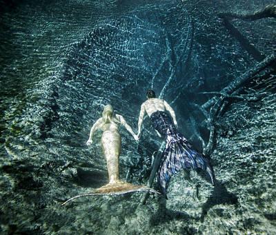 Mermaid Pair Art Print