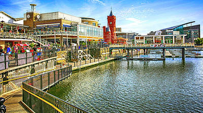 Photograph - Mermaid Quay Cardiff Wales by Chris Smith