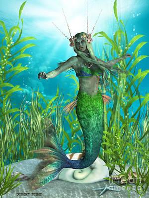 Pixie Digital Art - Mermaid Realms by Corey Ford