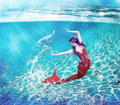 Painting - Mermaid Red by Mark Taylor