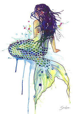 Mermaid Art Print by Sam Nagel