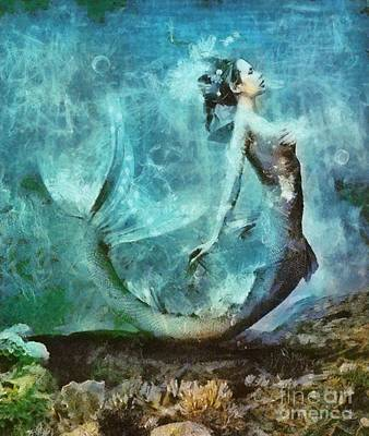 Musician Royalty-Free and Rights-Managed Images - Mermaid by Sarah Kirk