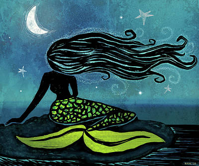 Mermaid Song Art Print by Little Bunny Sunshine