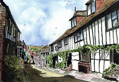 Conservative Painting - Mermaid Street Watercolour by Callan Percy