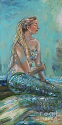 Mermaid Sunning On Shore Original