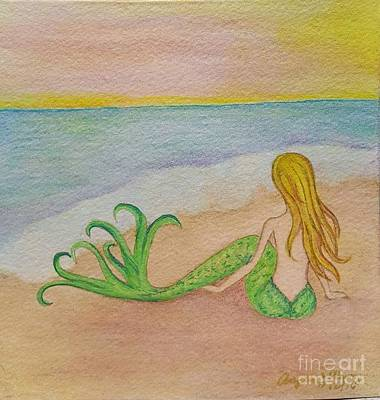 Painting - Mermaid Sunset by Angela Murray