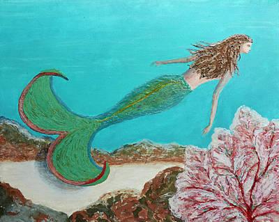 Painting - Mermaid Swoosh by Patricia Beebe