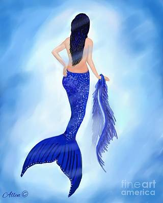 Painting - Mermaid Tanzanite by Leslie Allen