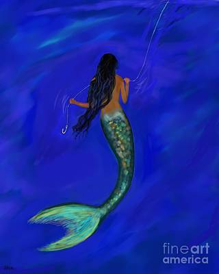 Painting - Mermaid Tease by Leslie Allen
