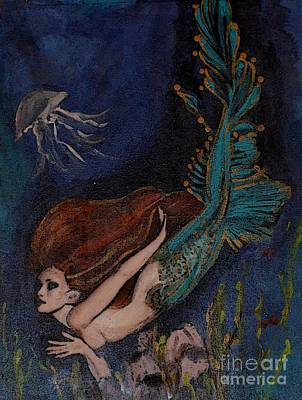 Painting - Mermaid Under The Sea by Valarie Pacheco