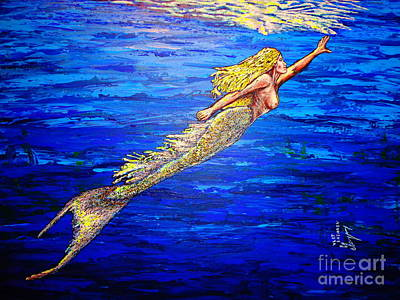 Painting - Mermaid by Viktor Lazarev
