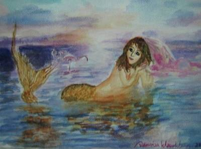 Painting - Mermaid by Wanvisa Klawklean