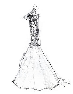 Wedding Gowns Drawings