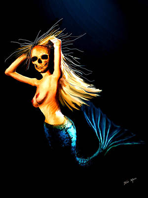 Nudes Digital Art - Mermaid Witch by Tray Mead