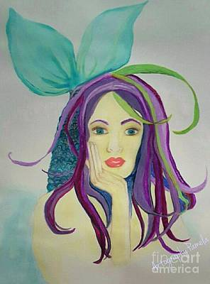 Archetype Painting - Mermaid With Mardis Gras Hair by ARTography by Pamela Smale Williams