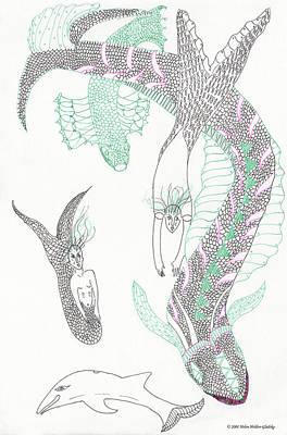 Mermaids And Sea Dragons Art Print