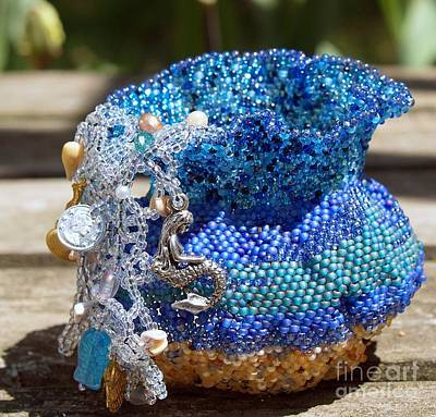 Mixed Media - Mermaid's Basket by Patricia Griffin Brett
