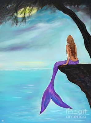 Painting - Mermaids Beautiful Oasis by Leslie Allen