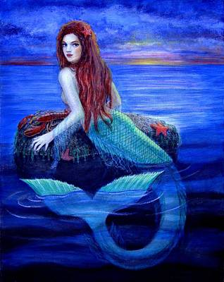 Painting - Mermaid's Dinner by Sue Halstenberg