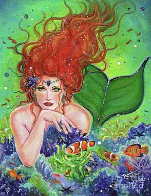Clownfish Painting - Mermaids Hiding Place by Renee Lavoie